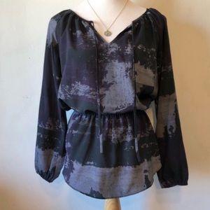 EIGHTY SIXTY-Black/Gray/Purple Peplum Blouse/Top S